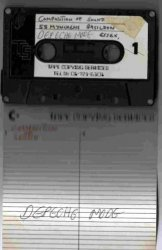 A poor scan of the Composition Of Sound labelled tape, with Depeche Mode written below. This was the tape sold by Terence Murphy.